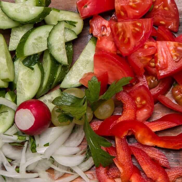 Ассорти из свежих овощей, 250 гр.